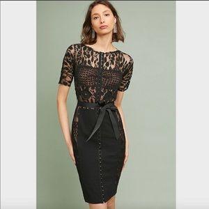 Byron Lars Carissima Sheath Black Lace Dress 10P